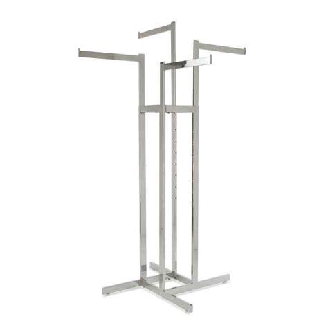 4 way clothing rack w arms rectangular tubing