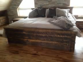 lits en bois rustique id 233 es novatrices de la conception