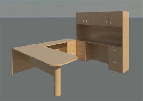 basic office desk revitcity object basic desk