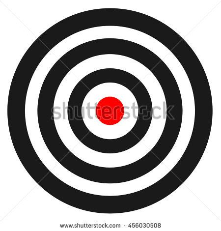Blank Template Sport Target Vector Shooting Stock Vector 456030508 Shutterstock Shooting Target Template