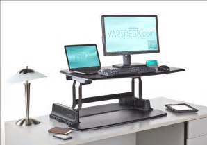 adjustable height computer desk workstation varidesk the original height adjustable desk