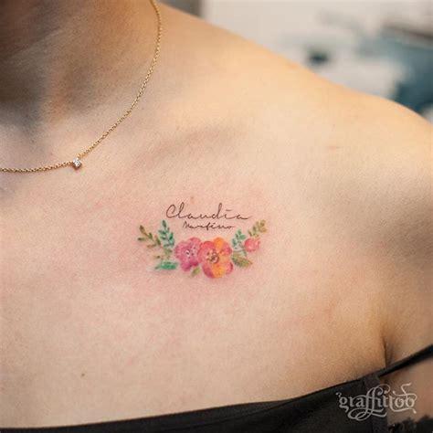 tiny color 220 ber 1 000 ideen zu small flower tattoos auf pinterest
