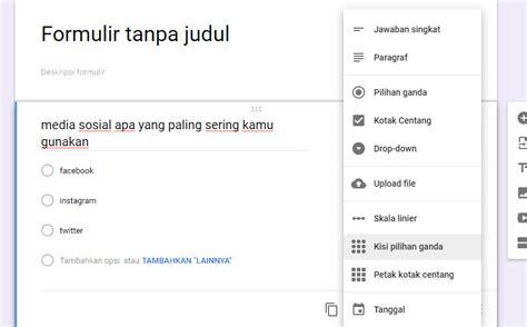 membuat kuesioner   google forms gratis