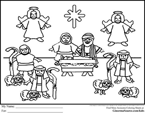 nativity set coloring page nativity set coloring pages ginormasource kids