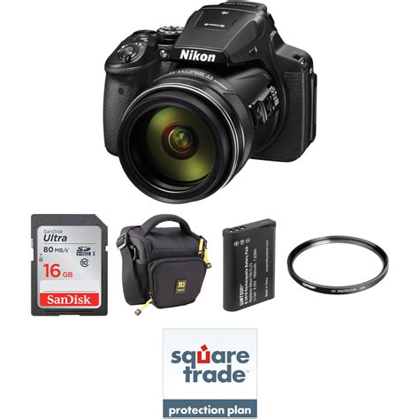 B H Nikon P900 by Nikon Coolpix P900 Digital Deluxe Kit Refurbished B H