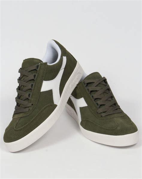 Diadora Nelson Basket Original Diadora B Original Suede Trainers Green Olivina Borg Shoes