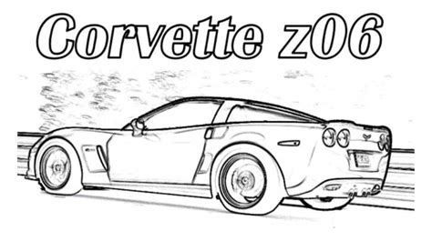 coloring pages of corvette cars corvette z06 car coloring pages printable free online