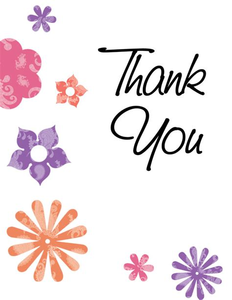 Thank You Card Template Flowers by Thankyou For Coming To Memorial Service Thank You Card