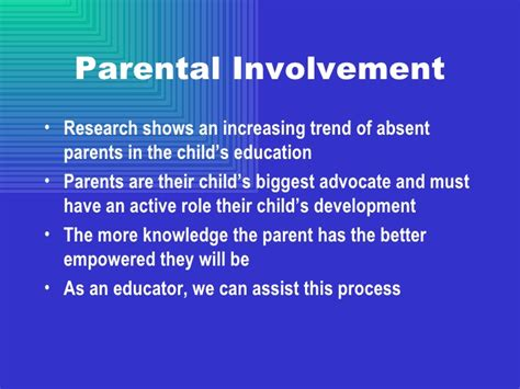 Parent Involvement In Education Essay by Research Paper On Parental Involvem