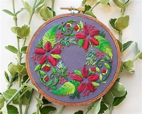 wreath embroidery patterns   time  year