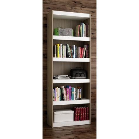 manhattan comfort parana bookcase manhattan comfort parana 3 0 series 5 shelf bookcase in