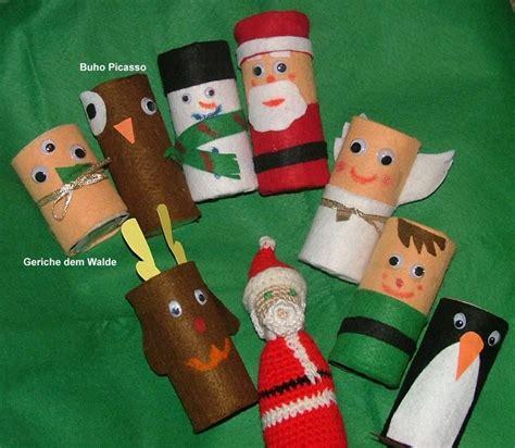 imagenes manualidades navideñas para niños fe fieltro y rollos de papel higienico manualidades con
