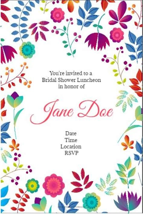 spring floral party invitation personalized party invites