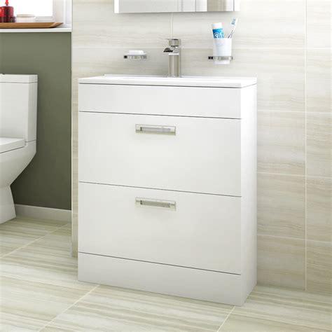 floor mounted vanity units bathroom aspen compact 600 floor mounted 2 drawer vanity unit