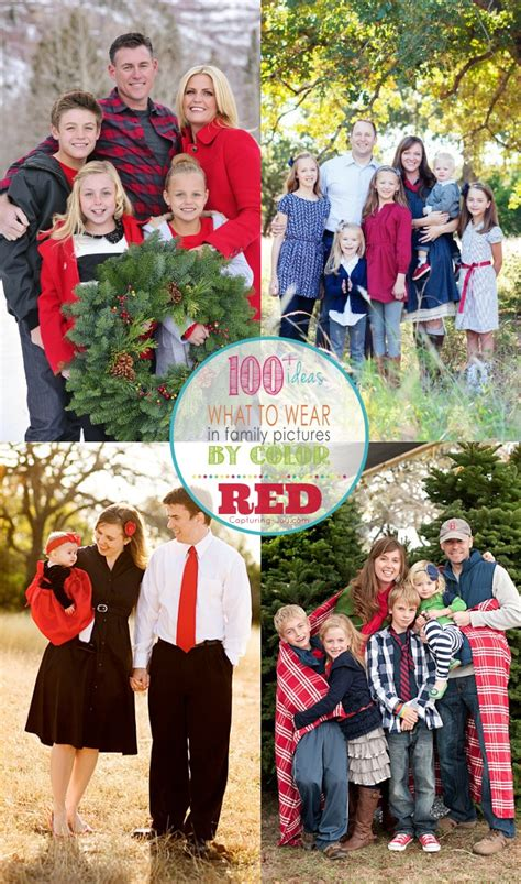 clothing themes for family pictures family picture outfits by color series red capturing joy