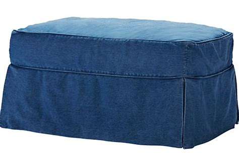 denim ottoman shop for a cindy crawford home beachside blue denim