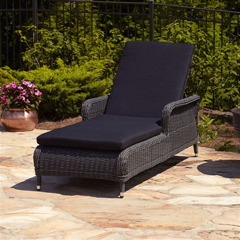 Wicker Patio Lounge Chairs Alcee Resin Wicker Outdoor Chaise Lounge Chair And Cushion