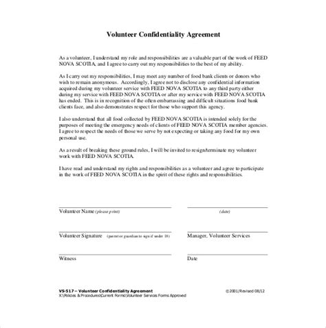 Secrecy Agreement Template 19 confidentiality agreement templates doc pdf free