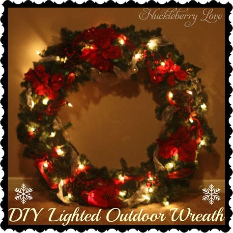 large wreaths huckleberry diy lighted outdoor wreath tutorial