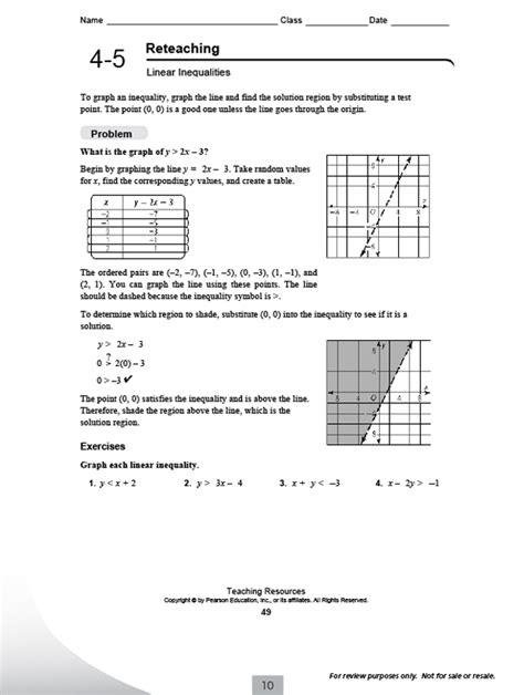 Education Math Worksheets by Pearson Integrated High School Math Common Program