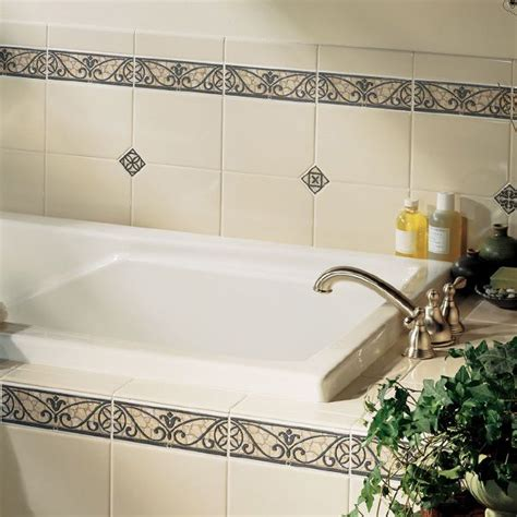 bathroom wall tile border ideas bathroom tile pictures for design ideas