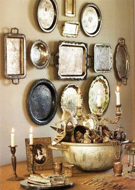 antique wall decor vintage silver everyday decorating ideas tidbits twine