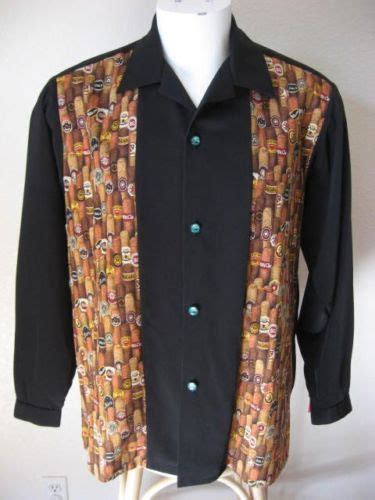 Choco Zipper Basic Patch new 50s rockabilly l bowling shirt black pinup 2tone cigar