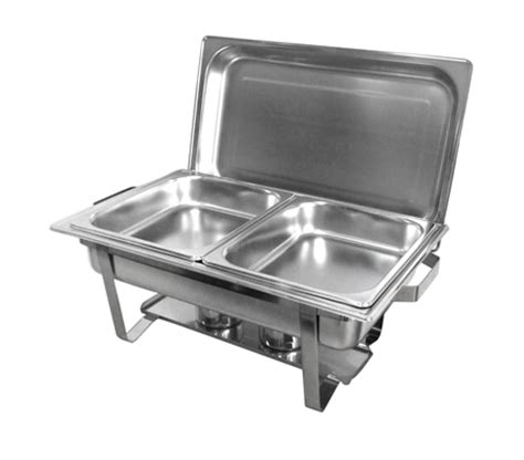 Buffet Warmer Set Bain Bow Chafing Dishes 2x4 5l Stainless Steel