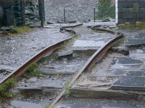 The Rails Free Stock Photo Of Damaged Bent Tracks In An Mine