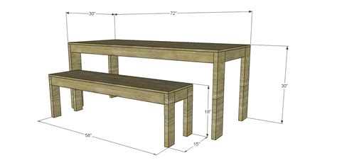 table and bench plans free plans to build a west elm inspired boerum dining