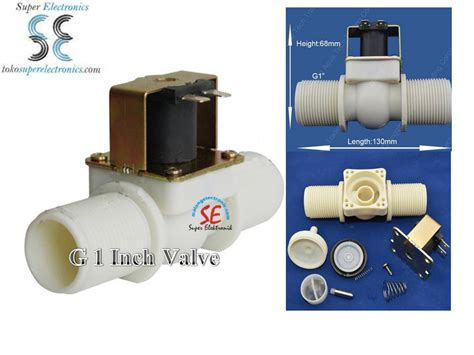 Solenoid Valve 12 Inch 36vdc Normally Valve Elektrik solenoid valve plastik 1 inch 12vdc kran elektrik 1 inch murah malang electronic