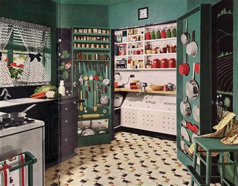 A Working Pantry by 1945 Armstrong Vintage Kitchen Design Mid Century