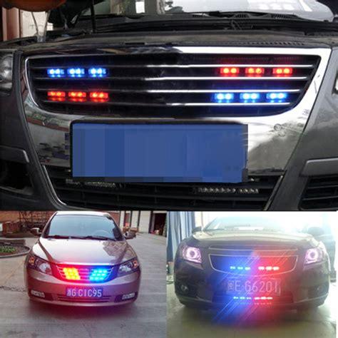 police lights for car grill blue red 54 led car truck strobe emergency warning strobe