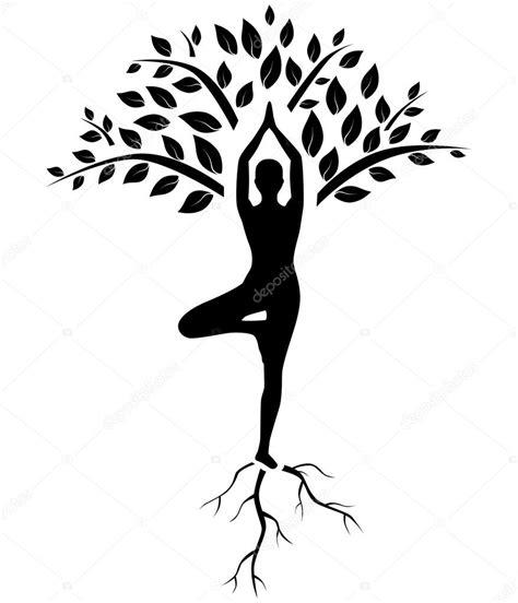 Wonderful Dancer Christmas Ornaments #6: Depositphotos_59514501-stock-illustration-yoga-tree-pose-silhouette.jpg