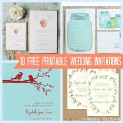 wedding invitations printing 10 free printable wedding invitations diy wedding