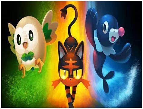 imagenes de pokemon sol y luna iniciales imagenes de pokemon iniciales y sus evoluciones para