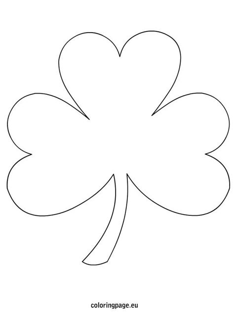 Coloring Pages Shamrock Template | shamrock coloring page free from coloringpage eu lots of