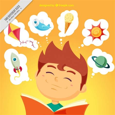 libro thinking through painting fondo de ni 241 o feliz leyendo descargar vectores gratis
