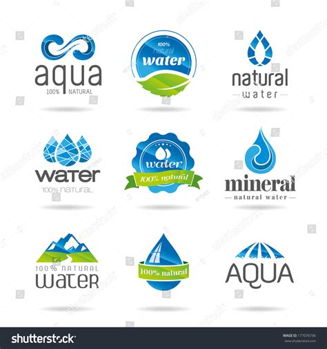 water design elements 25 vector water design elements water icon stock vector 177076736