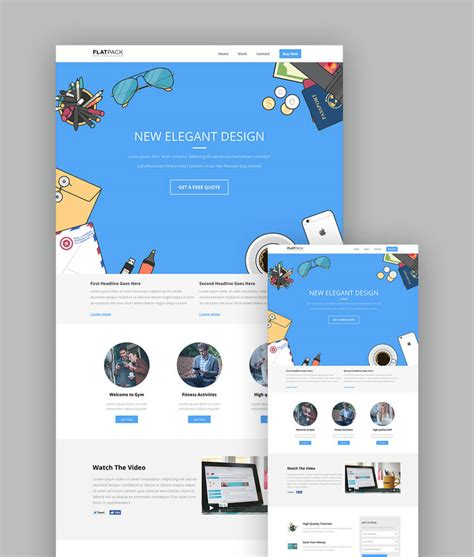18 Best Responsive Html5 Landing Page Templates 2018 Cool Landing Page Templates