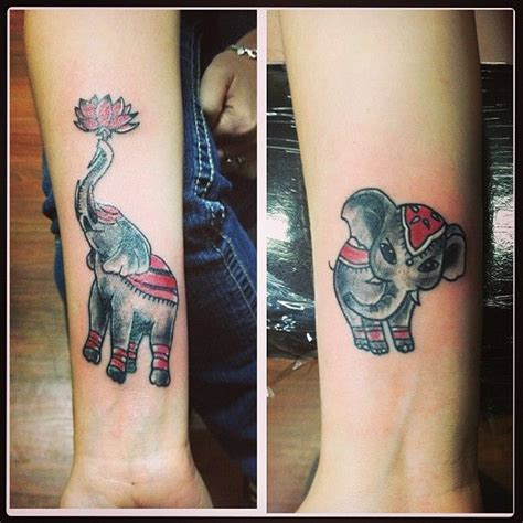 mother of two elephant tattoo tattoos pinterest mother daughter elephant tattoo products i love pinterest
