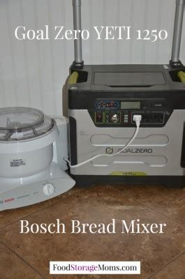 Bread Mixer Bosch how to prepare for a power outage today