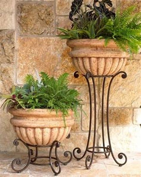 home design and decor wrought iron planters tall and