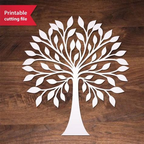 pattern design tree laser cut tree teplate tree vector for silhouette by