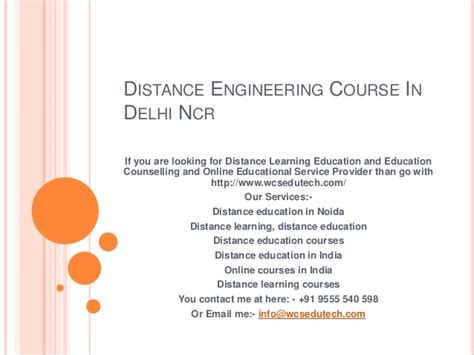 Distance Mba Colleges In Delhi by Distance Engineering Course In Delhi Ncr