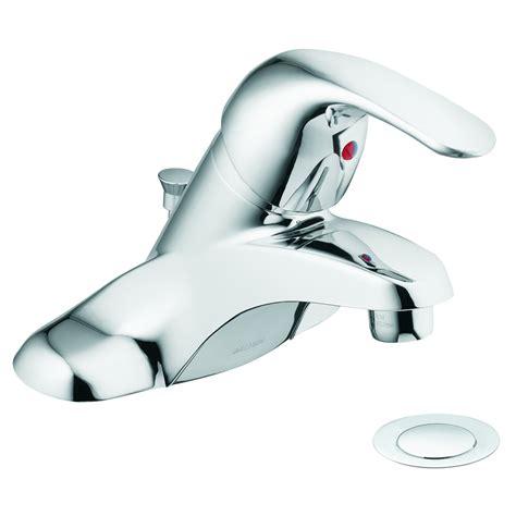 Moen Adler Bathroom Faucet by Shop Moen Adler Chrome 1 Handle 4 In Centerset Watersense