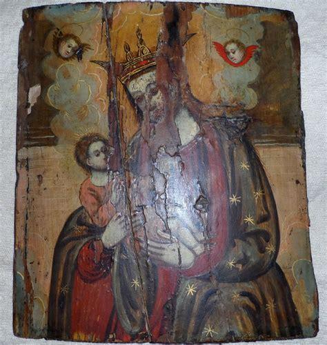 tempera su tavola tempera su tavola rappresentante madonna col bambino