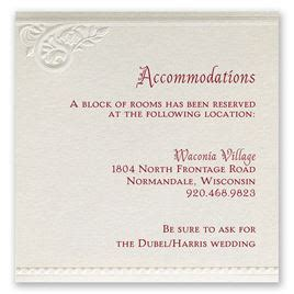 accommodation card template wedding accommodation cards invitations by