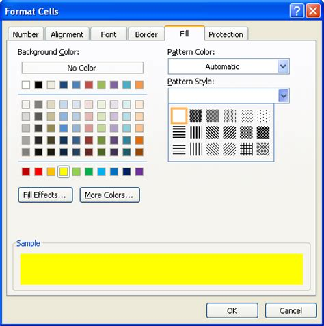java pattern with exle apply color and pattern to cells cell color 171 format