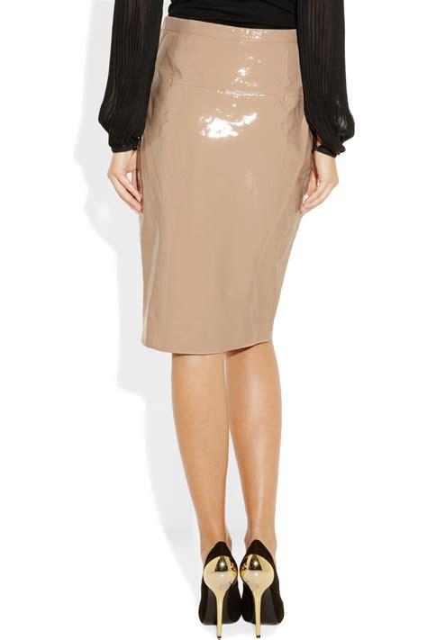patent leather pencil skirt redskirtz